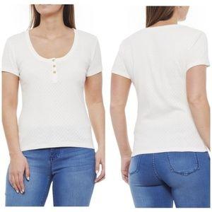 Frye Top Short Sleeve White